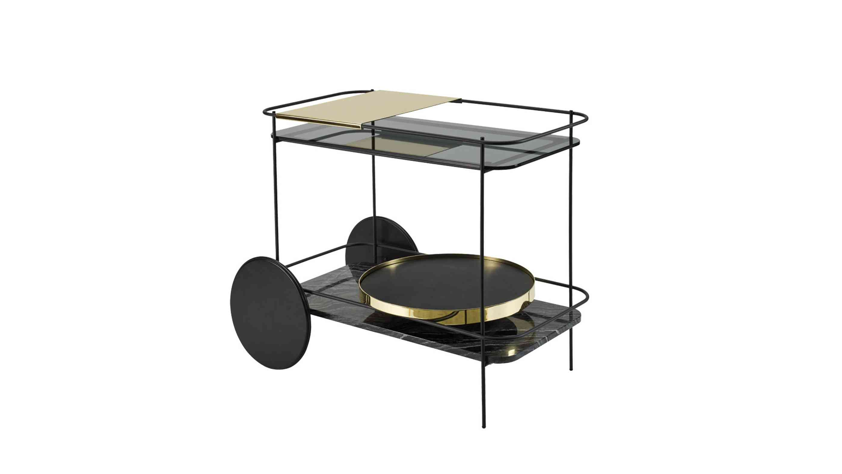 Camillo Bar Trolley im Retro-Design von Bolia