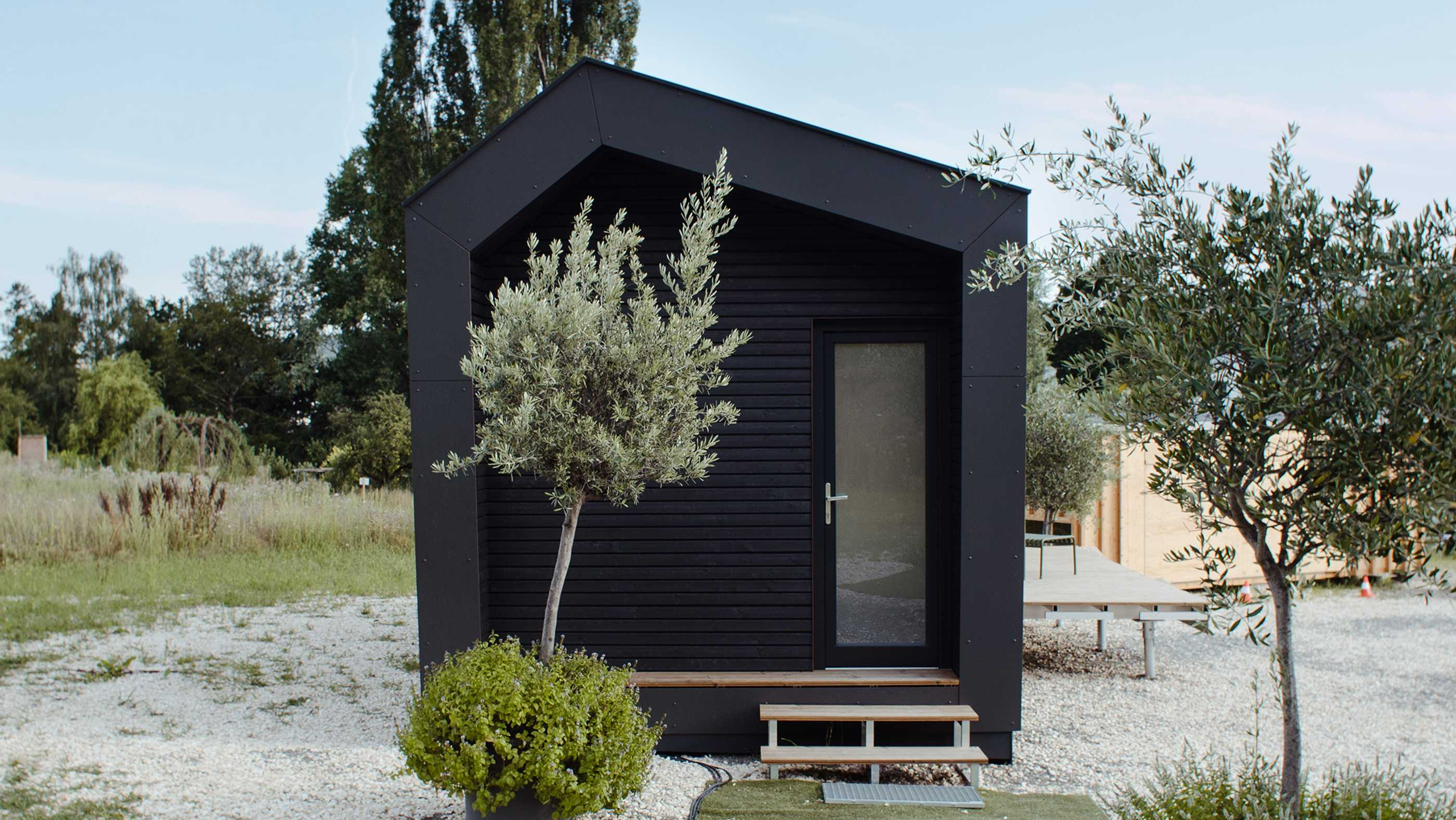 Eingangsbereich Tiny House Cabin One