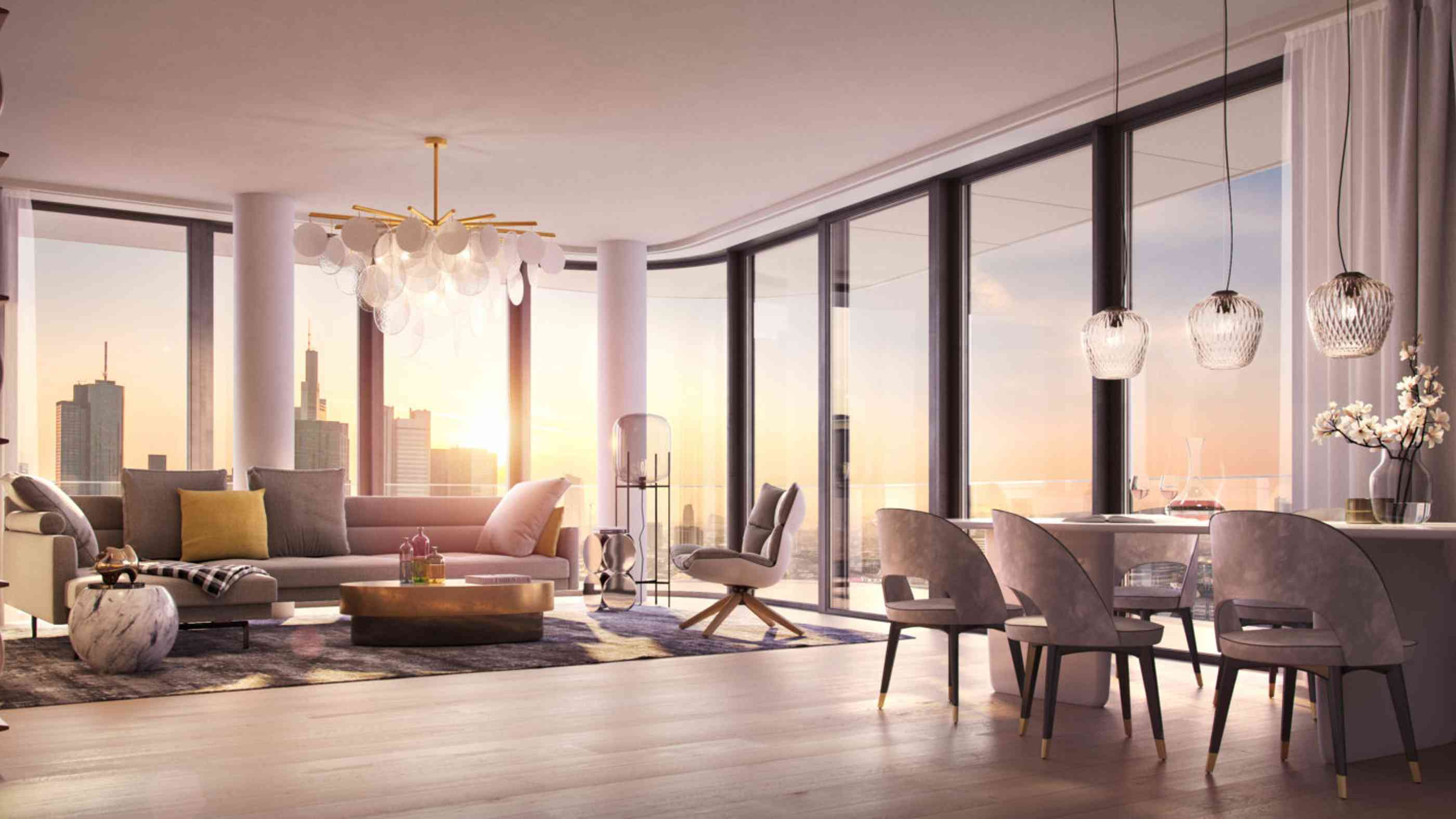 Penthouse im Grand Tower in Frankfurt